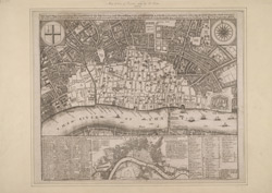 An exact map representing the condition of the late famous and flourishing city of London